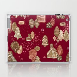 Hansel and Gretel Fairy Tale Gingerbread Pattern Laptop & iPad Skin