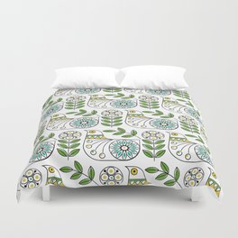 Mid Century Danish Bird Duvet Cover