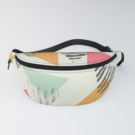Geometric Mint Pattern Design 015 Fanny Pack