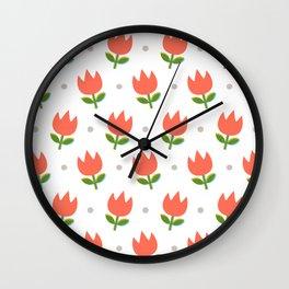 Spring Tulips Wall Clock