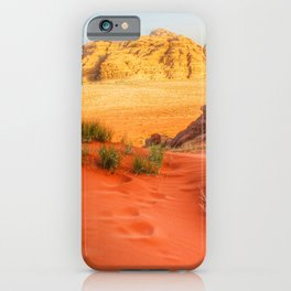 Wadi rum desert in Jordan iPhone Case