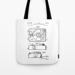 Turntable Patent Tote Bag