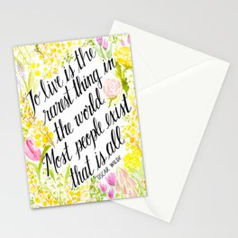 To Live Is the Rarest Thing Stationery Cards
