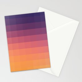 Lumen, Purple and Orange Glow Stationery Cards
