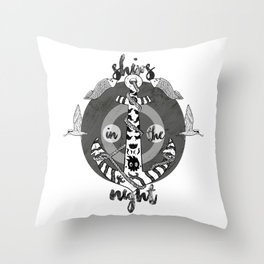 Ships in the Night Throw Pillow