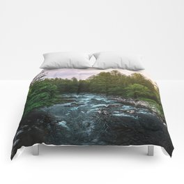 PNW River Run II - Pacific Northwest Nature Photography Comforters