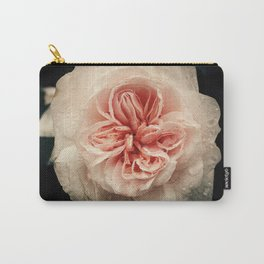 WET PINK ROSE BLOSSOM Carry-All Pouch