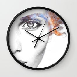 Girl with stars in her hair Wall Clock