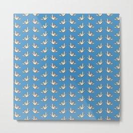 Snow White's Birds Metal Print