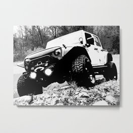 Beefy GP in Black and White Metal Print