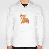 corgi Hoodies featuring Corgi by Chelsea Kenna