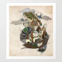 rap Art Prints featuring Rap-Unzel by Adelle Rae