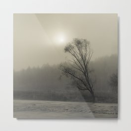 Quiet River and Tree Metal Print