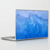 salt water Laptop & iPad Skins featuring Blue Salt Crystal Surf by LacyDermy