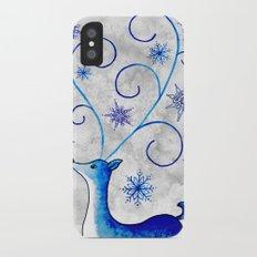 Snowflake Stag iPhone X Slim Case