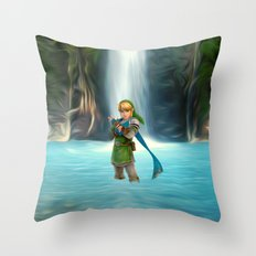 Adventure of Zelda Throw Pillow