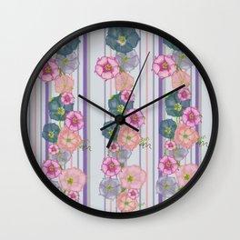 Dahlia Morning Glories Wall Clock
