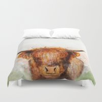 cow Duvet Covers featuring Cow by emegi