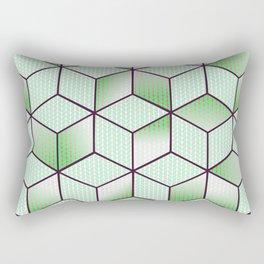Electric Cubic Knited Effect Design Rectangular Pillow