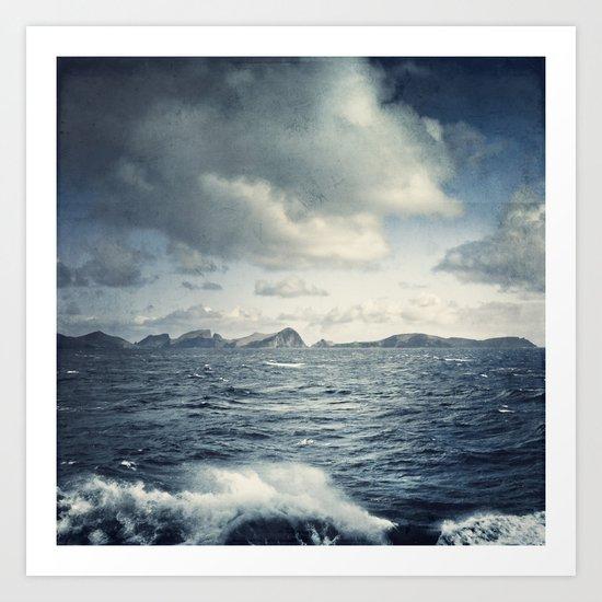unsteady horizon Art Print