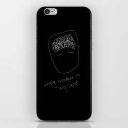 angry weather in my head iPhone Skin
