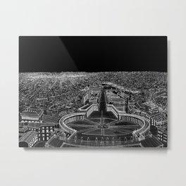Rome in BW Metal Print