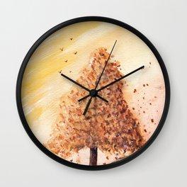 Autumn Tree Landscape Wall Clock