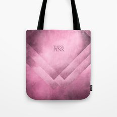 Think pink geometric shapes Tote Bag