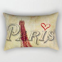 Paris Love Rectangular Pillow