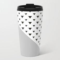 Gray and triangles  Metal Travel Mug