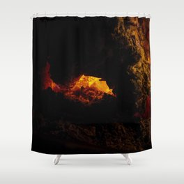 Fire Pit Shower Curtain