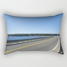 Scituate Reservoir, Rhode Island Ashland Causeway Photograph #6 by Jeanpaul Ferro Rectangular Pillow