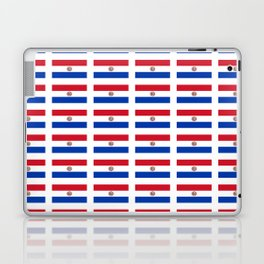 flag of paraguay 2 -paraguyan,asuncion,spanish, south america, latin america,pan flute,coffee,forest Laptop & iPad Skin