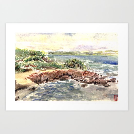 cape red beach Art Print