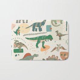 Dinosaur cartoon illustrations set Bath Mat