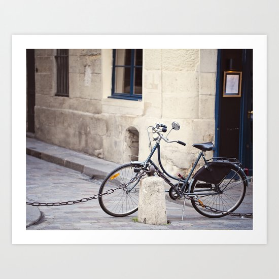 Parked In Paris Art Print