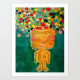 A dime for my thoughts, inspired by Noriko Tasaki Art Print