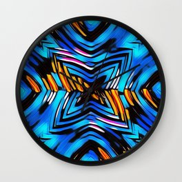 Blue-red abstract Wall Clock
