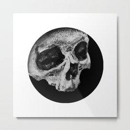 Skull Profile Painting Metal Print