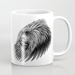 Golden headed lion tamarin monkey - ink illustration Coffee Mug