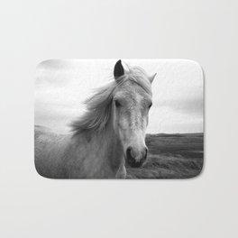 white horse Bath Mat