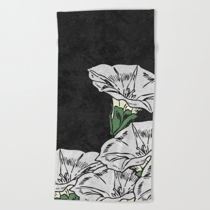MARBLE FLOWERS (abstract) Beach Towel