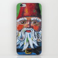 gnome iPhone & iPod Skins featuring Garden Gnome  by Juliette Caron
