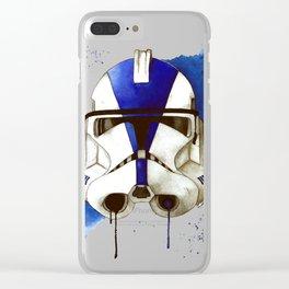 Clonetrooper Wars Watercolor Republic Design Clear iPhone Case