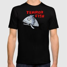Terror fish Mens Fitted Tee Black MEDIUM