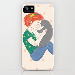 Loving Cat Mom iPhone Case