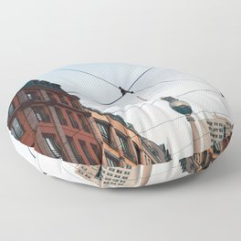 Berlin cityscape Floor Pillow