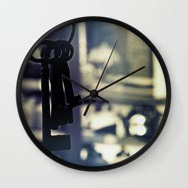 Hanging Keys-Dark Wall Clock