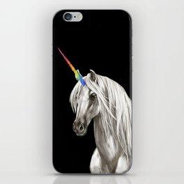 Unicorn in Black iPhone Skin