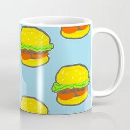 Blue water Burger Pattern Coffee Mug